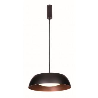 VIOKEF 4173400 | Chester-VI Viokef függeszték lámpa 1x LED 1920lm 3000K fekete, barna, matt opál
