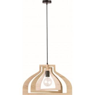 VIOKEF 4184400 | Roxie Viokef függeszték lámpa 1x E27 barna, fekete