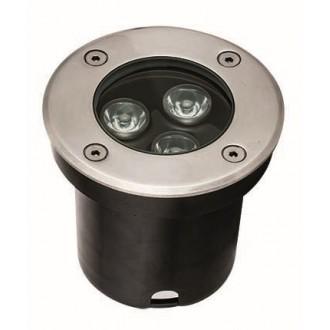 VIOKEF 4186800 | Lotus-VI Viokef beépíthető lámpa Ø100mm 1x LED 330lm 3200K IP67 ezüst, fekete