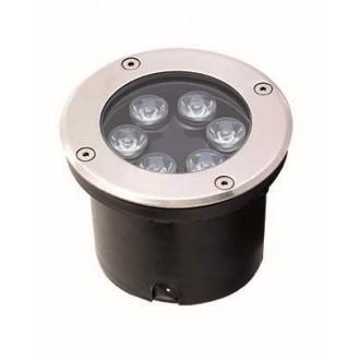 VIOKEF 4186900 | Lotus-VI Viokef beépíthető lámpa Ø120mm 1x LED 660lm 3200K IP67 ezüst, fekete