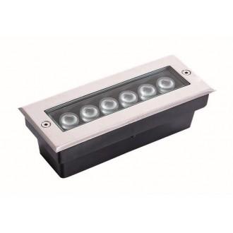 VIOKEF 4187100 | Lotus-VI Viokef beépíthető lámpa 200x80mm 1x LED 660lm 3200K IP67 ezüst, fekete