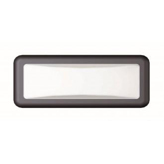 VIOKEF 4189700 | Minos Viokef fali lámpa 1x LED 500lm 3000K IP54 fekete, fehér