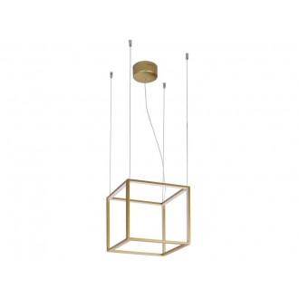VIOKEF 4207100 | Gold-Cube Viokef függeszték lámpa 1x LED 2880lm 3000K arany
