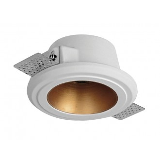VIOKEF 4209800 | Flame-VI Viokef beépíthető lámpa festhető Ø125mm 125x125mm 1x GU10 fehér, vörösréz