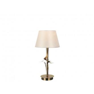 VIOKEF 4210600 | Juliet Viokef asztali lámpa 45cm 1x E27 arany, bézs