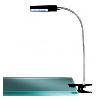 WOFI 290312100000 | FlexW Wofi csiptetős lámpa kapcsoló flexibilis 1x LED 200lm 3000K fekete, króm