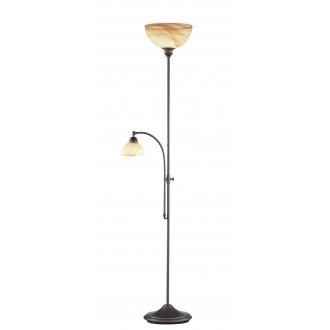 WOFI 3128.02.09.0000 | Lacchino Wofi álló lámpa 180cm fényerőszabályzós taposókapcsoló szabályozható fényerő 1x E27 + 1x E14 rozsdaszín