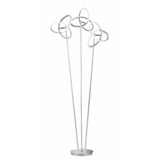 WOFI 3410.03.70.8000 | Eliot-WO Wofi álló lámpa 140cm kapcsoló elforgatható alkatrészek 3x LED 3300lm 3000K ezüst