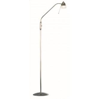 WOFI 3840.01.64.0000 | Ali Wofi álló lámpa 150cm kapcsoló flexibilis 1x G9 matt nikkel