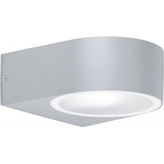 WOFI 4061.01.50.7000 | OsloW Wofi fali lámpa 1x E27 IP44 szürke