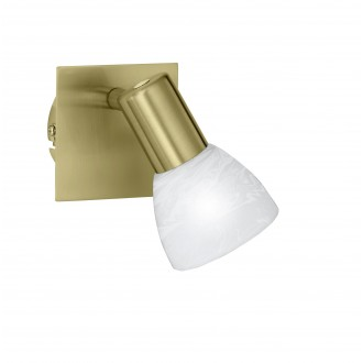 WOFI 4354.01.32.1000 | Angola Wofi fali lámpa kapcsoló energiatakarékos izzóhoz tervezve 1x E14 matt arany