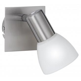 WOFI 4354.01.64.0000 | Angola Wofi fali lámpa kapcsoló energiatakarékos izzóhoz tervezve 1x E14 matt nikkel