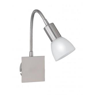 WOFI 4354.01.64.0500 | Angola Wofi fali lámpa kapcsoló flexibilis, energiatakarékos izzóhoz tervezve 1x E14 matt nikkel