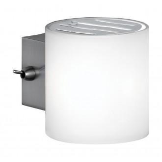 WOFI 4451.01.64.0500 | Aqaba Wofi fali lámpa vezeték kapcsoló 1x G9 matt nikkel
