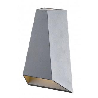 WOFI 4952.02.50.0000 | Brook Wofi fali lámpa 2x LED 210lm 3000K IP54 szürke