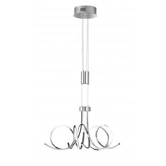 WOFI 5227.05.01.6000 | Cyrano Wofi függeszték lámpa ellensúlyos, állítható magasság, szabályozható fényerő 1x LED 2700lm 3000K króm