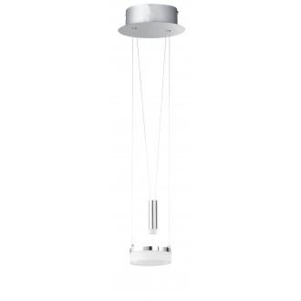WOFI 6263.02.54.6000 | Jette Wofi függeszték lámpa ellensúlyos, állítható magasság, szabályozható fényerő 1x LED 660lm + 1x LED 60lm 3000K matt nikkel, króm, fehér