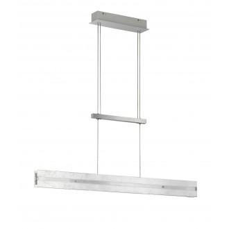 WOFI 6379.02.70.7000 | Arlon Wofi függeszték lámpa fényerőszabályzós kapcsoló ellensúlyos, állítható magasság, szabályozható fényerő 2x LED 2030lm 3000K ezüst