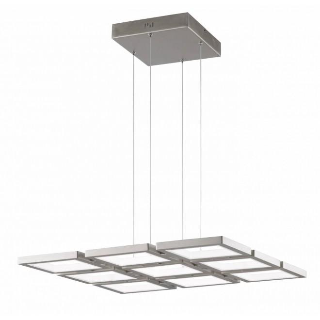 WOFI 6531.09.64.8000 | Viso Wofi függeszték lámpa impulzus kapcsoló szabályozható fényerő, rövidíthető vezeték 1x LED 9300lm 3000K matt nikkel