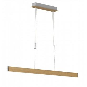 WOFI 7096.01.51.8000 | Sydney-WO Wofi függeszték lámpa fényerőszabályzós érintőkapcsoló ellensúlyos, állítható magasság, szabályozható fényerő 1x LED 2550lm 3000K fa.