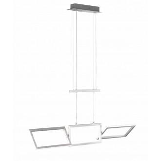 WOFI 7159.01.63.8100 | Skip Wofi függeszték lámpa elforgatható alkatrészek, ellensúllyal állítható magasság 1x LED 2700lm 3000K csiszolt alumínium