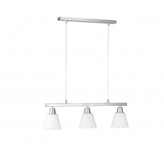 WOFI 7204.03.64.0000 | MaliW Wofi függeszték lámpa energiatakarékos izzóhoz tervezve 3x E14 matt nikkel