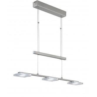 WOFI 7254.03.64.1000 | Vileta Wofi függeszték lámpa ellensúlyos, állítható magasság 3x LED 1080lm 3000K matt nikkel
