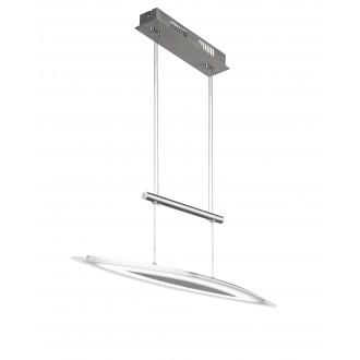 WOFI 7275.01.64.0000 | Avignon Wofi függeszték lámpa ellensúlyos, állítható magasság, szabályozható fényerő 1x LED 1700lm 3000K matt nikkel, átlátszó, fehér