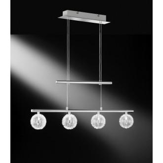 WOFI 7360.04.01.0000 | AstroW Wofi függeszték lámpa ellensúlyos, állítható magasság 4x G4 króm