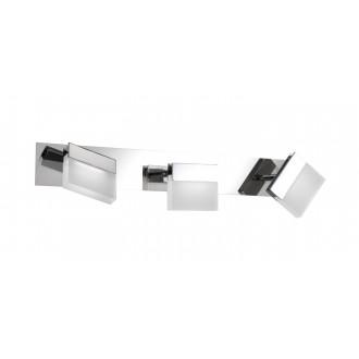 WOFI 7501.03.01.0044 | Sonett Wofi fali, mennyezeti lámpa elforgatható alkatrészek 3x LED 960lm 3000K IP23 króm, fehér