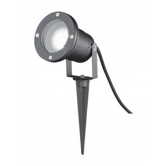 WOFI 8055.01.10.7000 | Garpa Wofi leszúrható lámpa elforgatható fényforrás 1x GU10 IP44 fekete