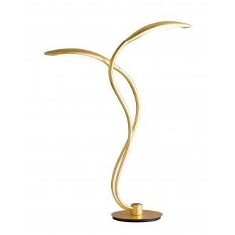 WOFI 8326.02.15.5000 | Hampton Wofi asztali lámpa 55cm három fokozatú kapcsoló szabályozható fényerő 2x LED 750lm 3000K arany