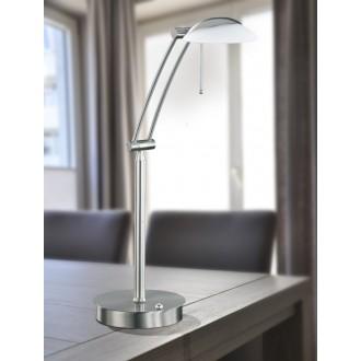 WOFI 8343.01.64.0000 | Liverpool Wofi asztali lámpa 70cm fényerőszabályzós kapcsoló szabályozható fényerő 1x G9 740lm 2800K matt nikkel