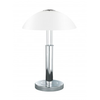 WOFI 8747.02.01.0000 | Prescot Wofi asztali lámpa 42cm fényerőszabályzós érintőkapcsoló szabályozható fényerő 2x E14 króm