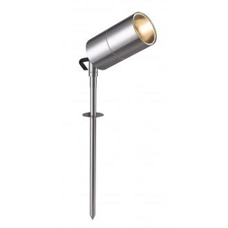 WOFI 8802.01.97.0000 | Bronx Wofi leszúrható lámpa elforgatható alkatrészek 1x GU10 350lm 3000K IP44 nemesacél, rozsdamentes acél