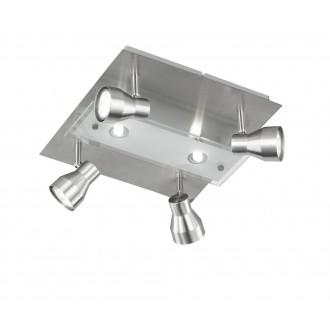 WOFI 9020.06.64.6100 | Rox Wofi spot lámpa négyzet 4x GU10 1000lm + 2x G9 600lm 3000K matt nikkel, átlátszó
