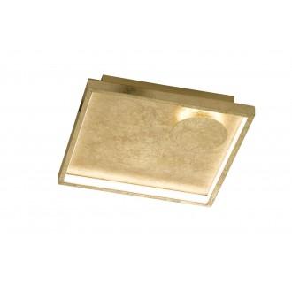 WOFI 9045.02.15.7300 | Letizia Wofi fali, mennyezeti lámpa négyzet 1x LED 1030lm 3000K arany