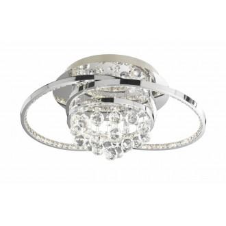 WOFI 9103.01.01.8460 | Medley Wofi mennyezeti lámpa impulzus kapcsoló szabályozható fényerő 1x LED 3100lm 3000K króm