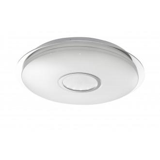 WOFI 917701066000 | Dorp Wofi mennyezeti lámpa kerek távirányító szabályozható fényerő, állítható színhőmérséklet 1x LED 2480lm 3000 <-> 6400K fehér, ezüst, kristály hatás