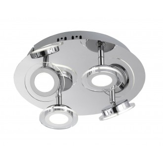 WOFI 9195.04.01.0000 | ChloeW Wofi spot lámpa elforgatható alkatrészek 4x LED 1200lm 3000K króm, fehér, átlátszó