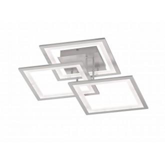 WOFI 9243.03.70.8300 | Modesto-WO Wofi mennyezeti lámpa impulzus kapcsoló szabályozható fényerő 1x LED 2500lm 3000K ezüst