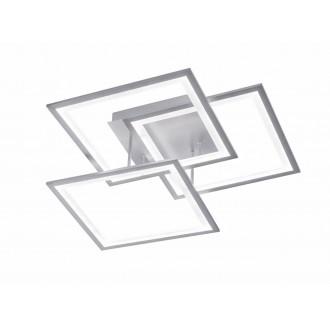 WOFI 9243.03.70.8400 | Modesto-WO Wofi mennyezeti lámpa impulzus kapcsoló szabályozható fényerő 1x LED 3000lm 3000K ezüst