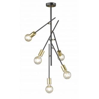 WOFI 9255.05.10.8000 | Tanil-York Wofi mennyezeti lámpa elforgatható alkatrészek 5x E27 fekete, arany