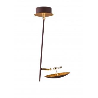 WOFI 9287.01.15.6000 | Pierre-Salem-Nogan Wofi mennyezeti lámpa elforgatható alkatrészek 1x LED 400lm 3000K arany, barna