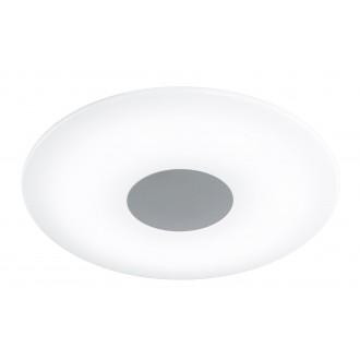 WOFI 9350.01.64.0400 | Sila Wofi mennyezeti lámpa távirányító szabályozható fényerő, állítható színhőmérséklet 1x LED 2500lm 3000 <-> 6000K matt nikkel, fehér