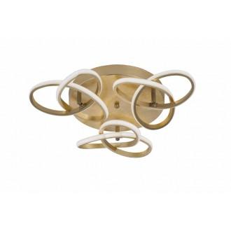 WOFI 9410.03.15.8000 | Eliot-WO Wofi mennyezeti lámpa elforgatható alkatrészek 3x LED 3300lm 3000K arany