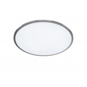 WOFI 9457.01.70.7600 | LiNoX Wofi mennyezeti lámpa kerek távirányító szabályozható fényerő, állítható színhőmérséklet 1x LED 2700lm 2700 <-> 6500K ezüst, fehér