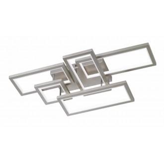 WOFI 9531.05.64.8000 | Viso Wofi mennyezeti lámpa impulzus kapcsoló szabályozható fényerő 1x LED 7000lm 3000K matt nikkel