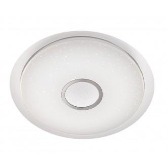 WOFI 9540.01.06.0800 | Kiana Wofi mennyezeti lámpa kerek távirányító szabályozható fényerő, állítható színhőmérséklet 1x LED 5000lm 3000 <-> 6000K fehér, ezüst, kristály hatás