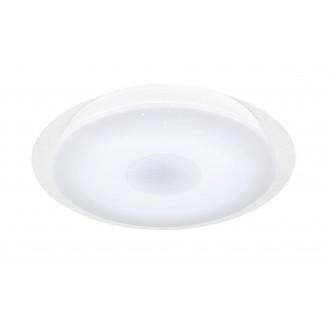 WOFI 9540.01.06.2400 | Kiana Wofi mennyezeti lámpa kerek távirányító szabályozható fényerő, állítható színhőmérséklet 1x LED 2000lm 3000 <-> 6000K IP40 fehér, kristály hatás